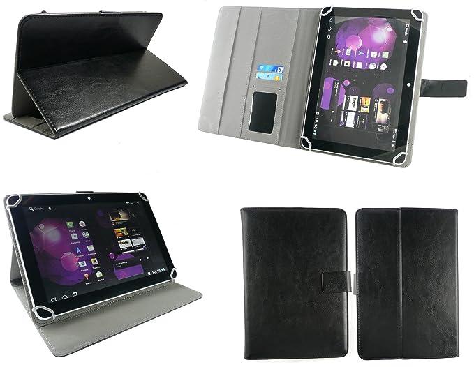 Emartbuy® Sunstech Tab101DC 10.1 Inch Tablet Universal Range Negro Ángulo Múltiples Executive Folio Funda Carcasa Wallet Case Cover con Tarjeta de ...
