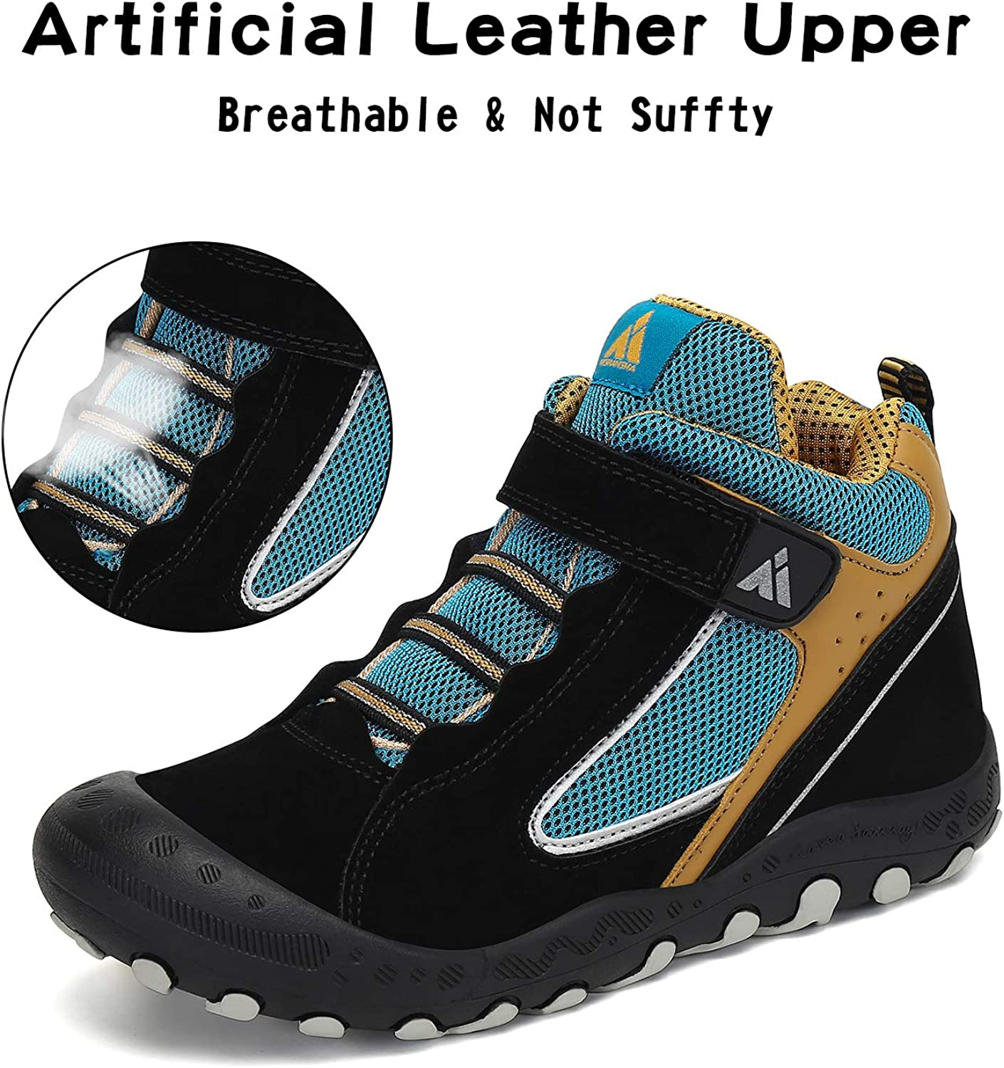 Mishansha Mens Womens Anti-Slip Leather Ankle Water Resistant Hiking Boots