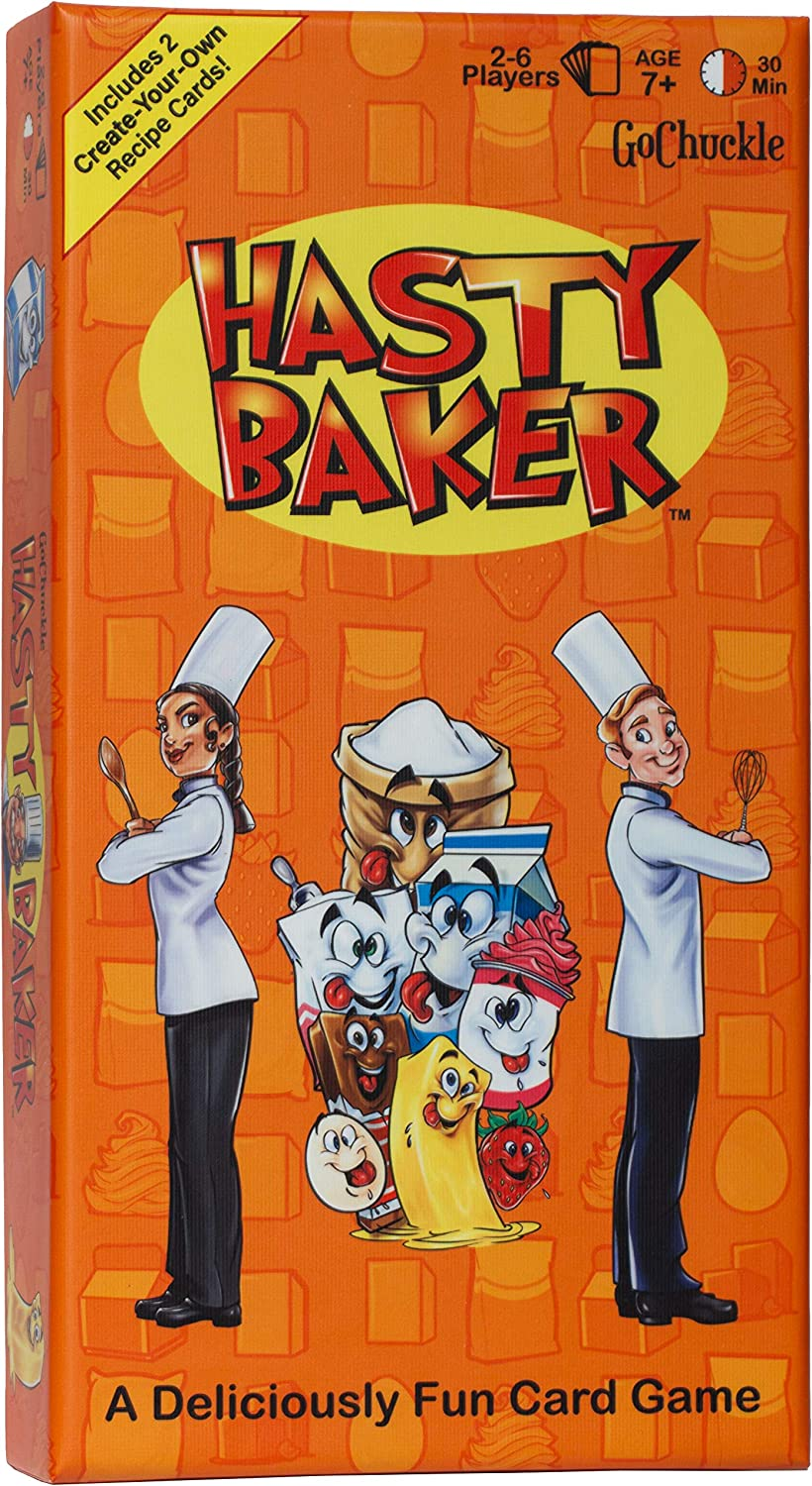 Hasty Baker Card Game – Fun Family Game for Kids and Adults – Collect Ingredient Cards and Finish Your Recipe First – Includes 2 Create Your Own Recipe Cards – Ideal for 2-6 Players Ages 7+