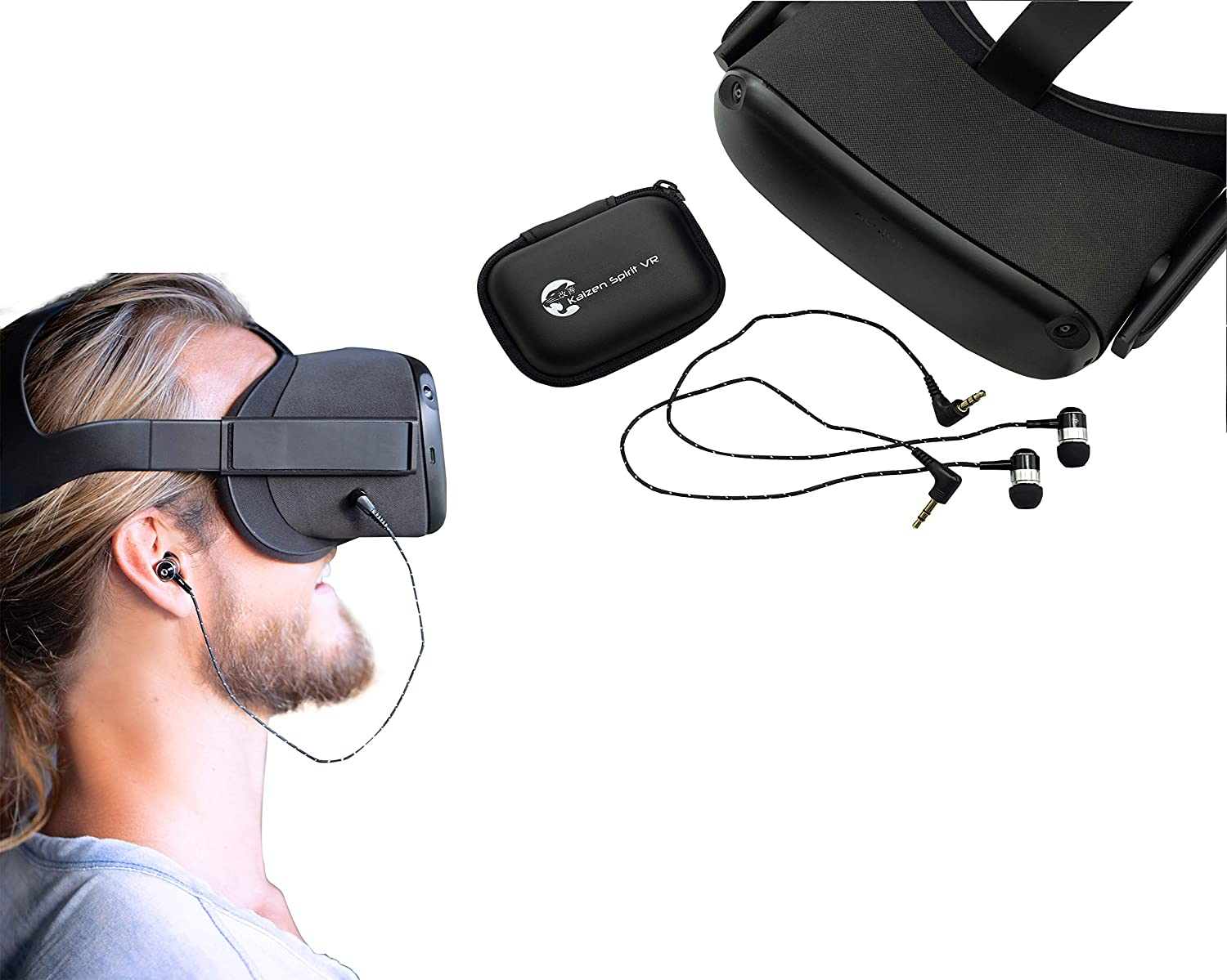 Kaizen Spirit VR Headphones | Compatible with Oculus Quest | Designed as Oculus Quest Headphones, Oculus Quest Earbuds | Oculus Quest Accessories