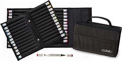 COPIC CZ20075672 - Estuche para rotuladores, negro: Amazon.es: Oficina y papelería