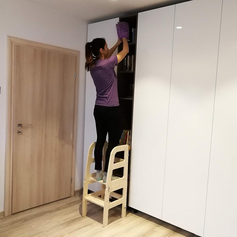 Atvi Kids, Learningtower - 4 Funktionen - Lernturm - Entdeckungsturm - Küchenhilfe (Weiß) Transparent