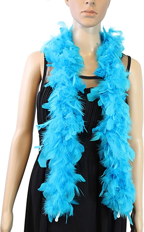 Green Color Turkey Chandelle Feather Boa Over 18 Color- 40 Gram 72 Long Halloween Costume Decoration Dancing Wedding Crafting Party Dress Up