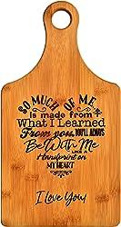 Like a Handprint on My Heart Bamboo Cutting Board