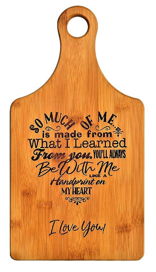 Regalo para madres, diseño de poema en corazón de bambú ...