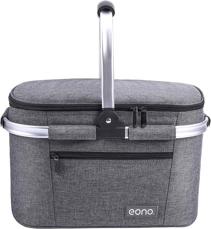 Eono by bolsa de refrigeraci/ón para exteriores cesta aislada 2 personas 22L Picnic Basket