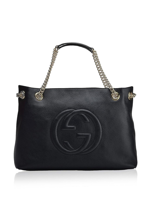 ba49972bd Amazon.com: Gucci Womens Soho Leather Chain Straps Shoulder Handbag Black  Large: Shoes