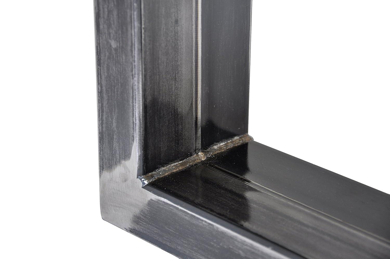 Magnetic Mobel Tischgestell Tischgestell Tischgestell Rohstahl Design Industrielook Tischbeine Tischuntergestell Tischkufen Kufengestell Metall Stahl 1 Paar in Versch. Größen Profil 100x40 Hersteller (700x720) 6669e5