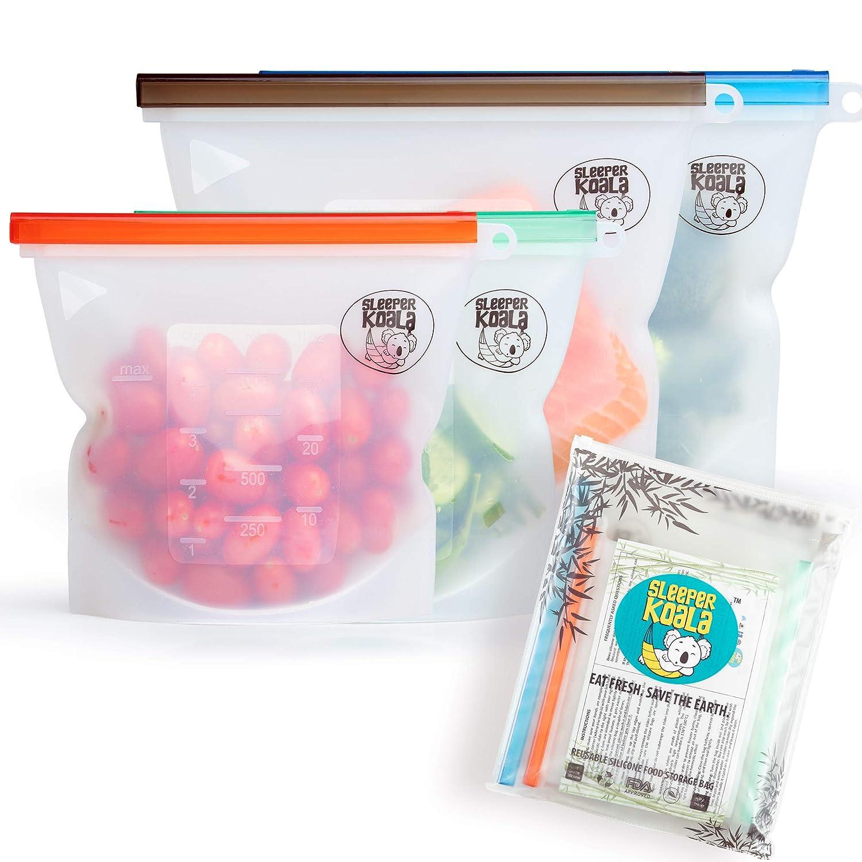 Amazon.com: Bolsa de silicona reutilizable para alimentos ...