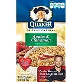 クエーカーインスタントオートミールりんご&シナモン、10袋入り 並行輸入品