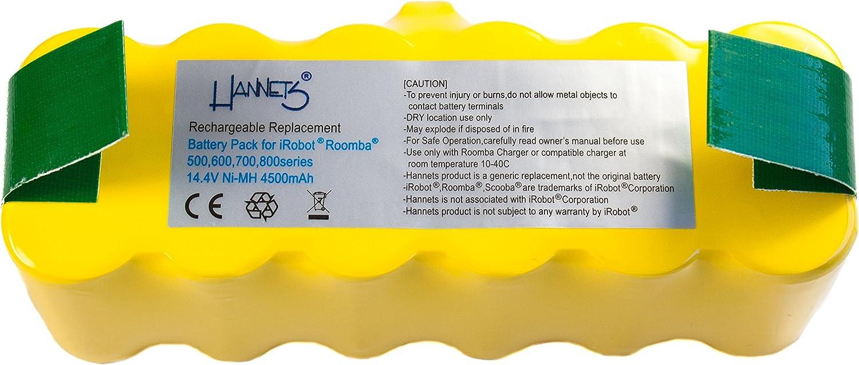 Batería Hannets® compatible con iRobot Roomba 581 I Batería i ...