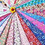 Imported 30pcs Mixed Floral Printed Cotton Fabric for Dolls Cloth Bags Sewing Crafts