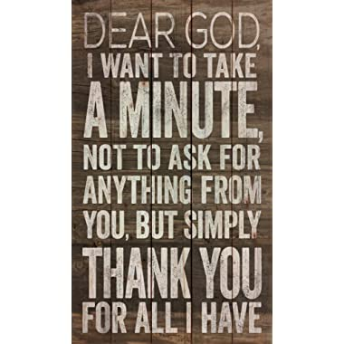 P. GRAHAM DUNN Dear God, Thank You for All I Have 24 x 14 Wood Pallet Wall Art Sign Plaque