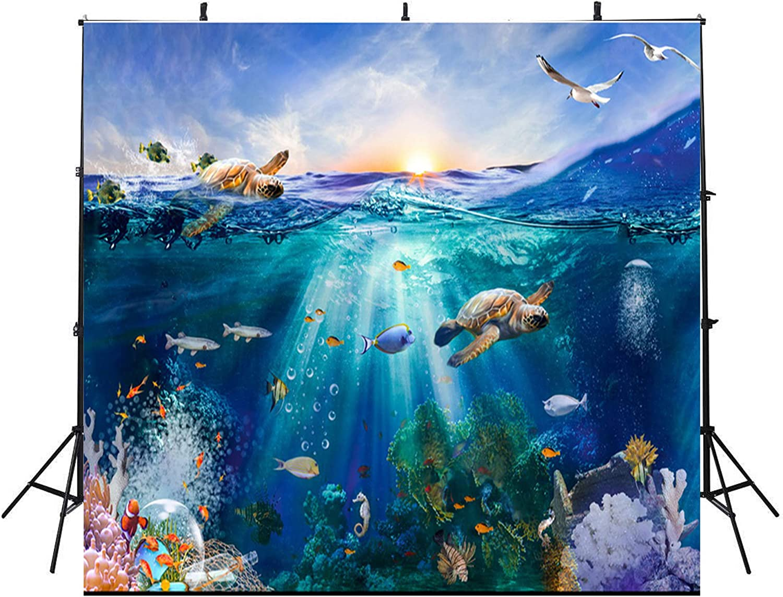 10x10Feet Under The Sun Photography Backdrops Colorful Fish Vinyl Photography Backdrop Aquarium Photo Booth Props Ocean 81V6wkM7igL