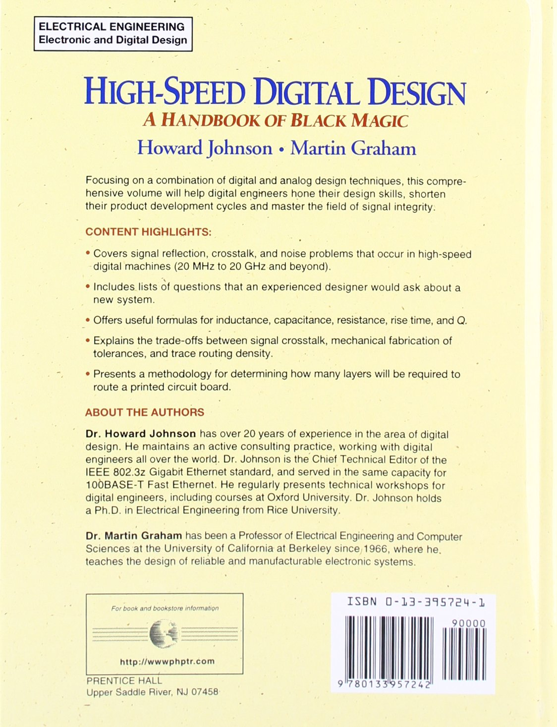High Speed Digital Design: A Handbook of Black Magic: Howard