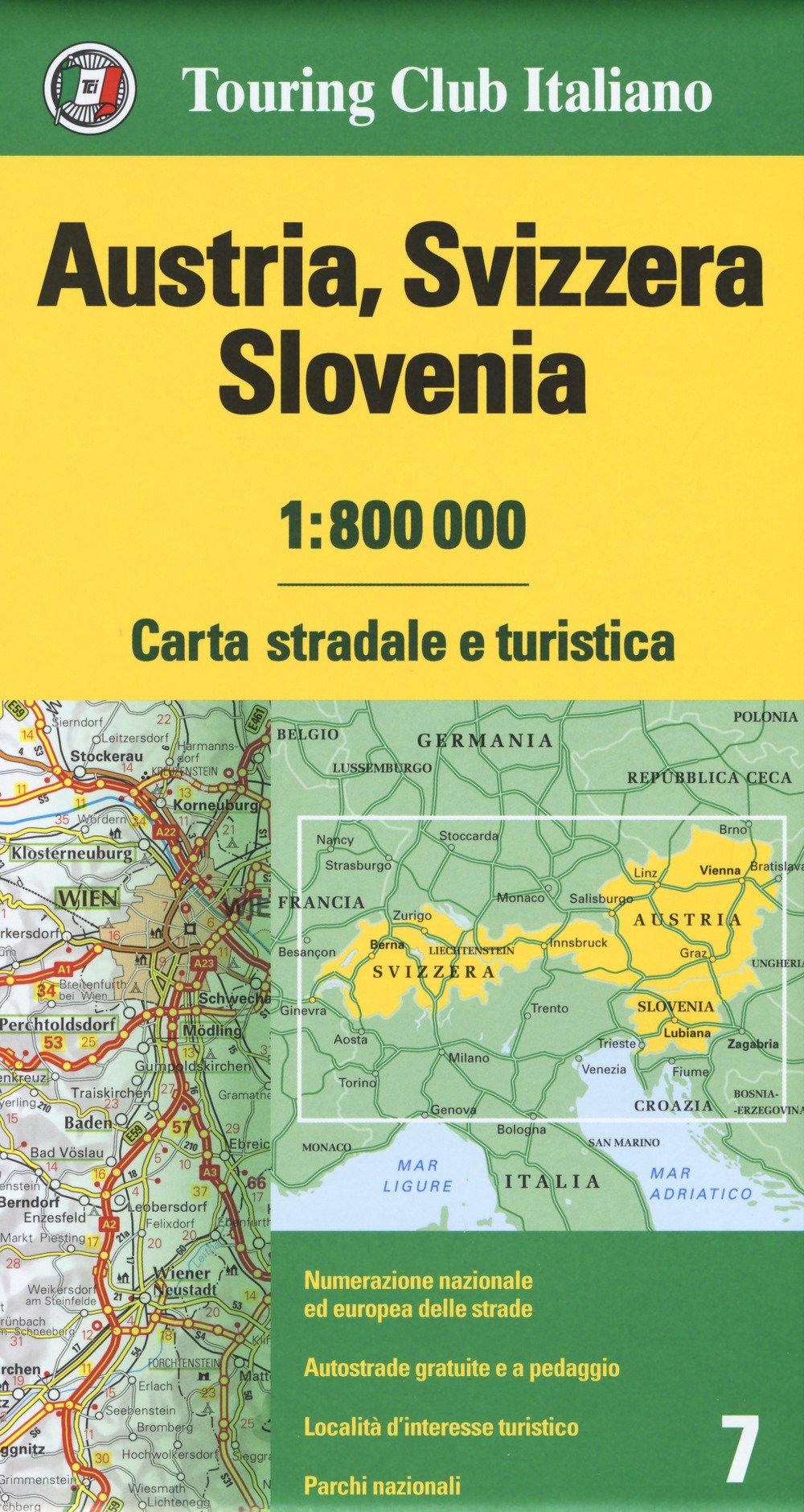 Cartina Slovenia Stradale.Amazon It Austria Svizzera Slovenia 1 800 000 Carta Stradale E Turistica Aa Vv Aa Vv Libri