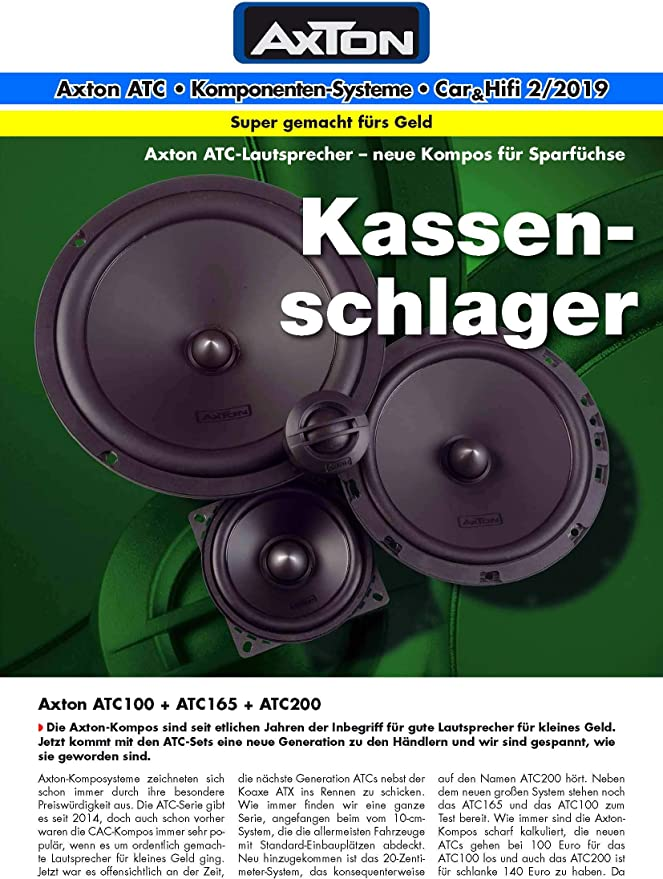 Axton Atc165 2 Way Compo 16 5 Cm Elektronik