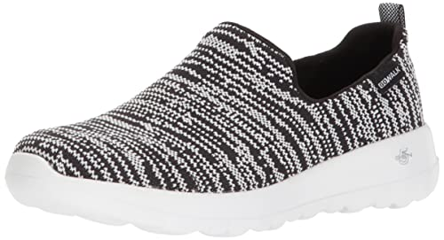 Skechers Damen Go Walk Joy-Nirvana Slip on Sneaker, Schwarz (Black/White), 39 EU