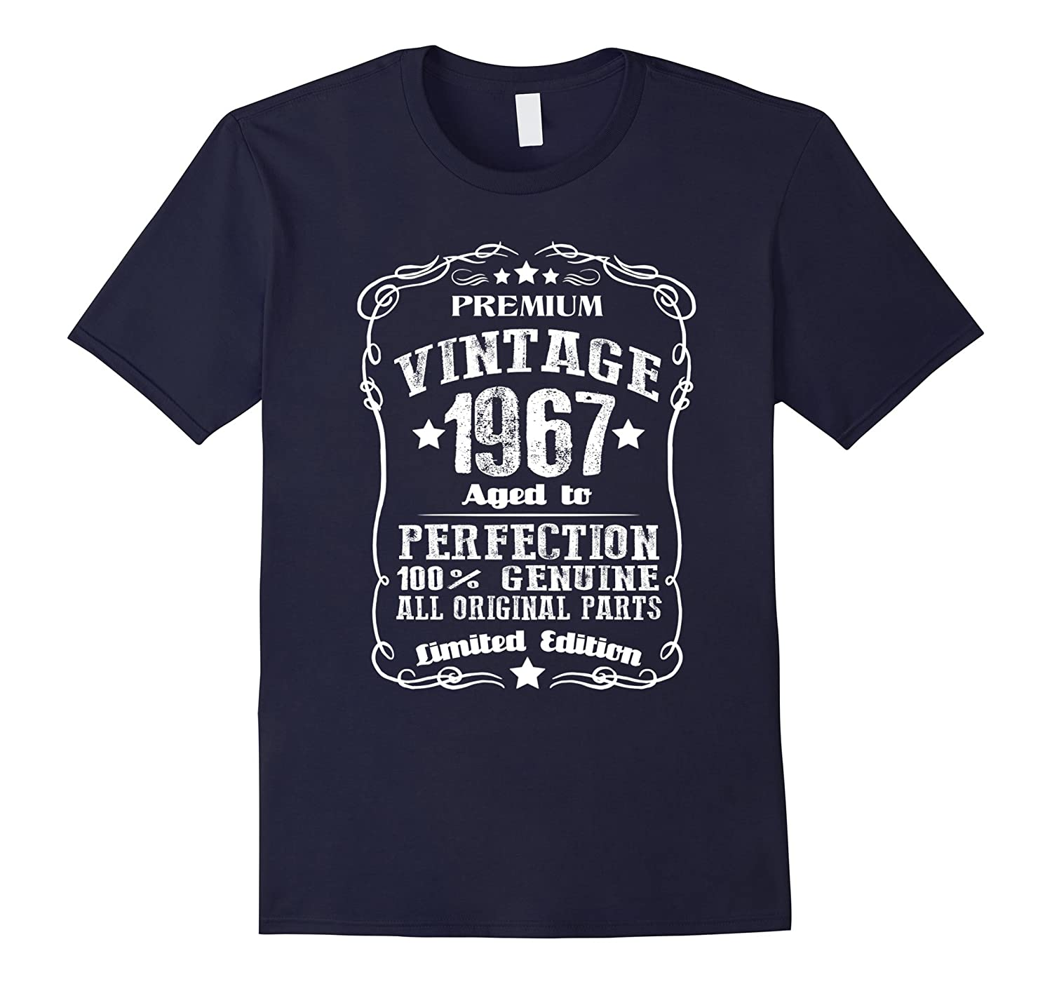 Vintage Age 50 Years 1967 Perfect 50th Birthday T-Shirt-TD