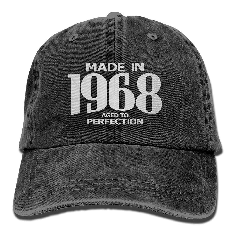 Mujeres Aged to Perfection 1968 Hipster Unisex Denim Jeans Gorra de b/éisbol Ajustable Gorra de Hip-Hop Regalo para Hombres