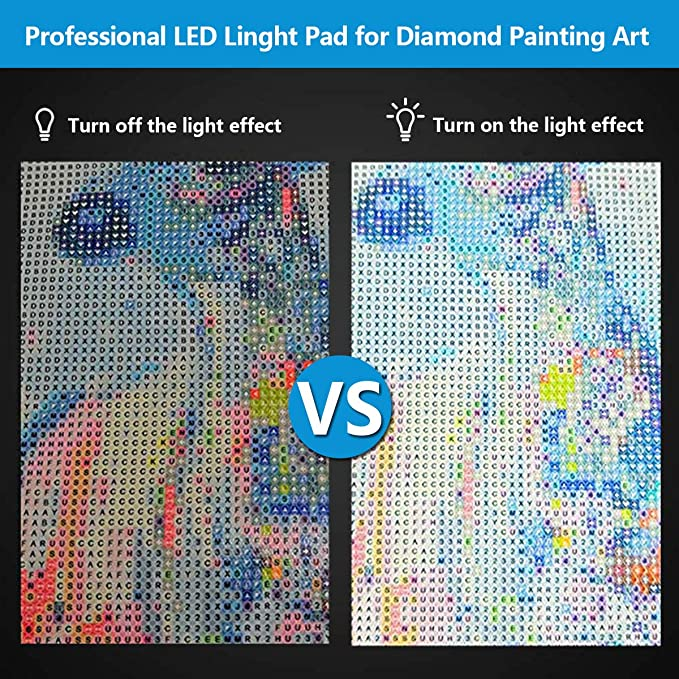 Mlife Diamond Painting A4 LED Light Pad - Dimmable Light Board Kit, Apply  to Full Drill & Partial Drill 5D Diamond Painting with Detachable Stand and