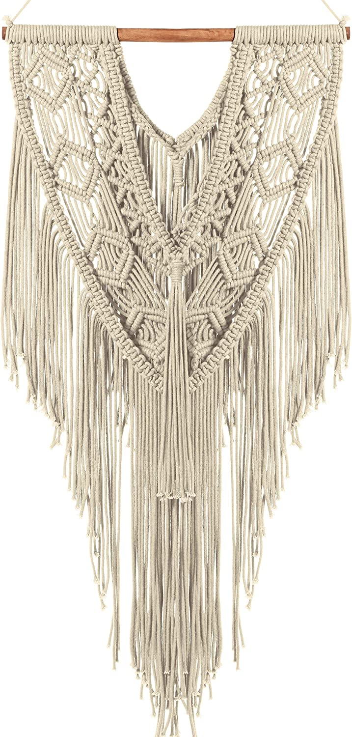 Attractive Macrame Woven Wall Hanging, Boho Chic Decor For Your Home, Cute Wall Decor, Woven Wall Hanging For Dorm Room, Nursery, Bedroom and Home, Beautiful Woven Wall Hanging, Bohemian Décor
