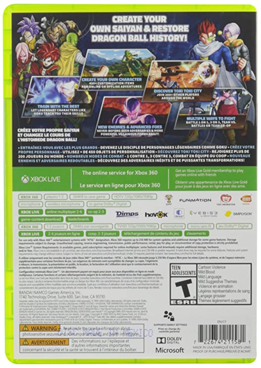 Buy Dragon Ball Xenoverse - Xbox 360 Online at Low Prices in
