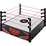 WWE Superstar Ring (14 in) with Spring-Loaded Mat & Real Flex Ropes for Action Figures; Gift for Ages 6 Years Old & Up