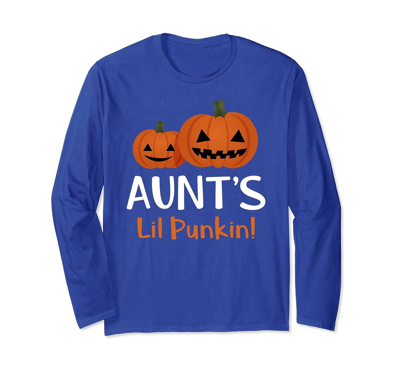 Aunt's Lil Pumpkin Cute Matching Family Long Sleeve Shirt-mt