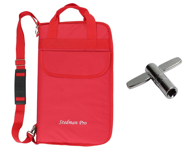 YMC DSB20-BK Pro 15mm Larger Size Drumstick Bag Holder Mallet Bag with a shoulder strap,Drum Key - Black JunHao 10800273