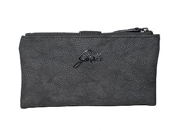 1d84e720fc2f0 Glüxklee Damen XL Geldbörse dunkelgrau  Amazon.de  Koffer