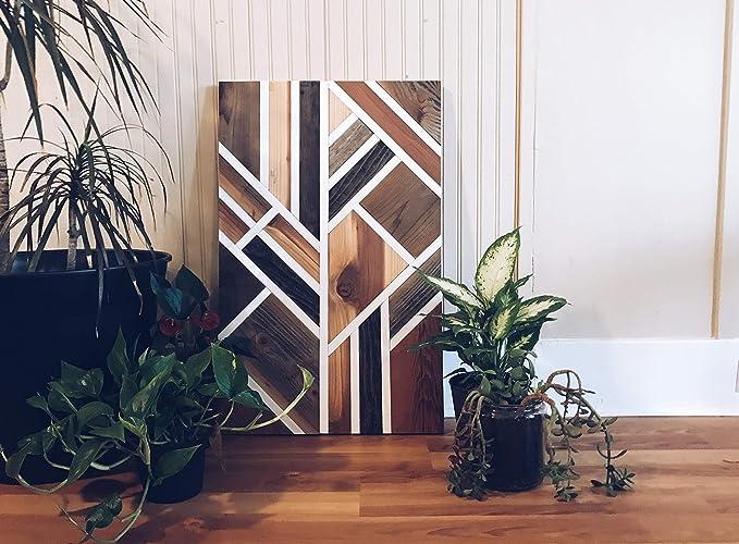 Amazon Com Reclaimed Wood Wall Art Modern Art Boho Art For Any