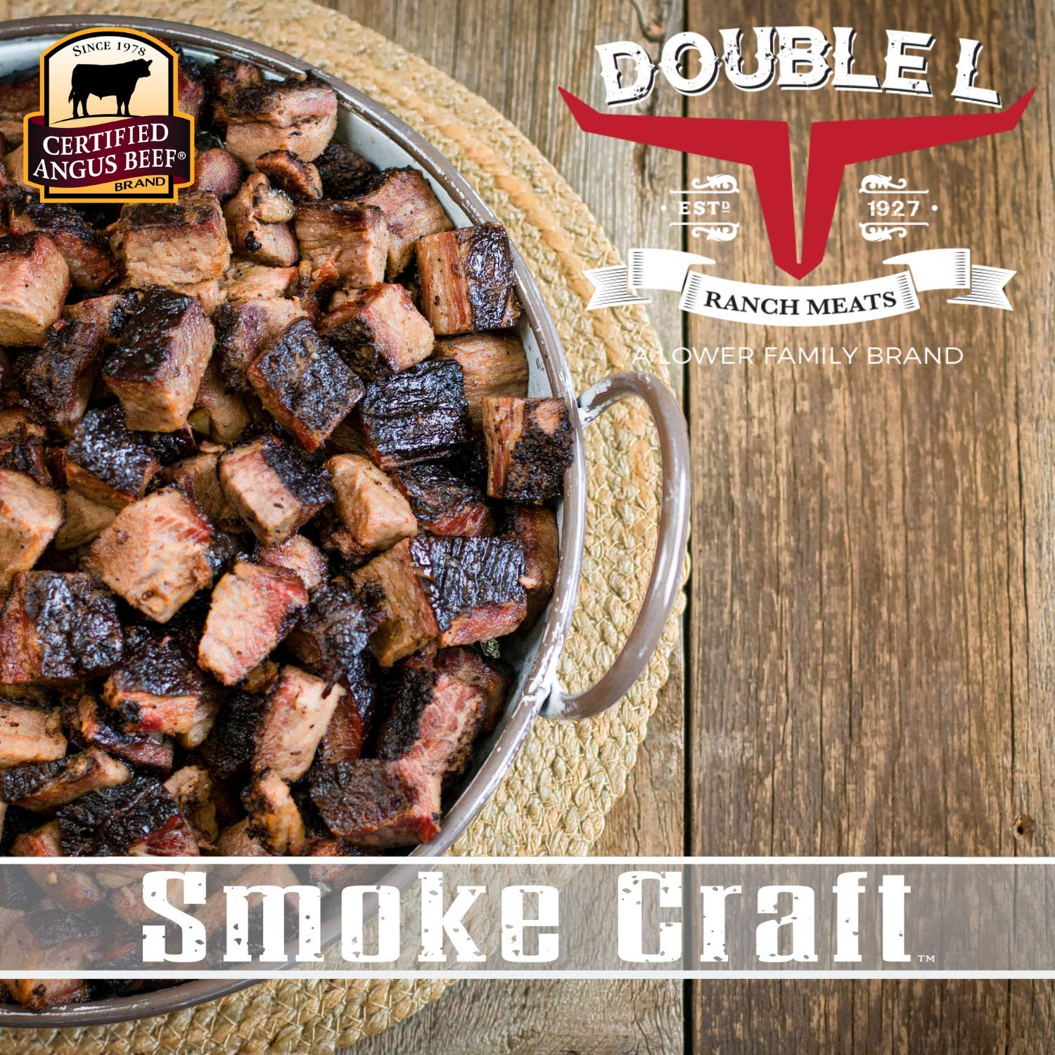 Beef Brisket Burnt Ends by Double L Ranch Meats | Hickory Smoked and Ready to Serve | 10 Lbs.