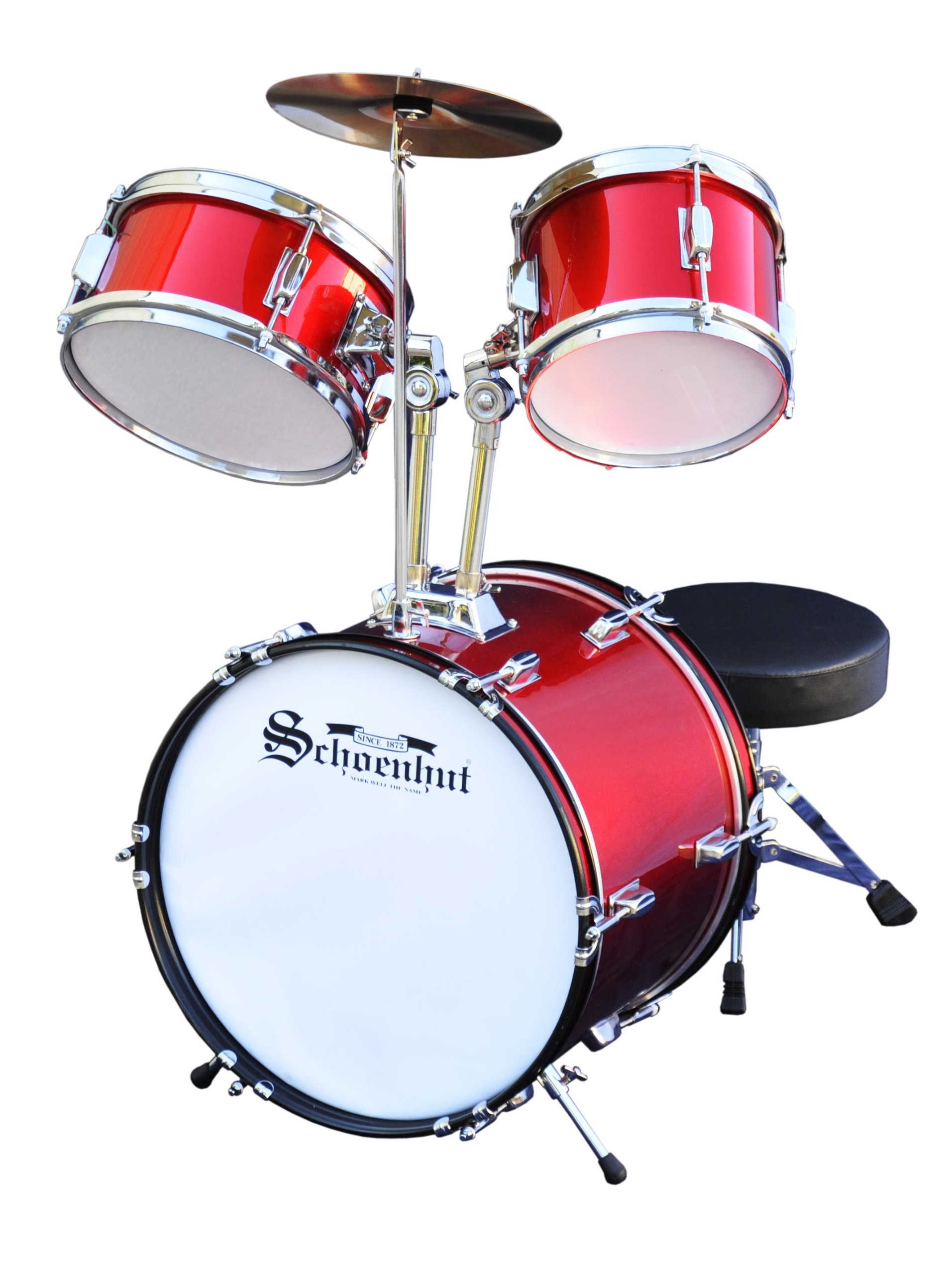 Schoenhut C1020 - 5 Piece Drum Set (Red) by Schoenhut