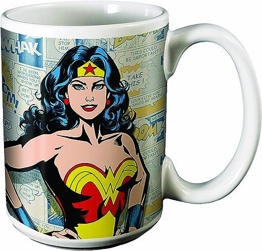 DC Comics I Am Wonder Woman Ceramic Coffee Mug 14-Ounces