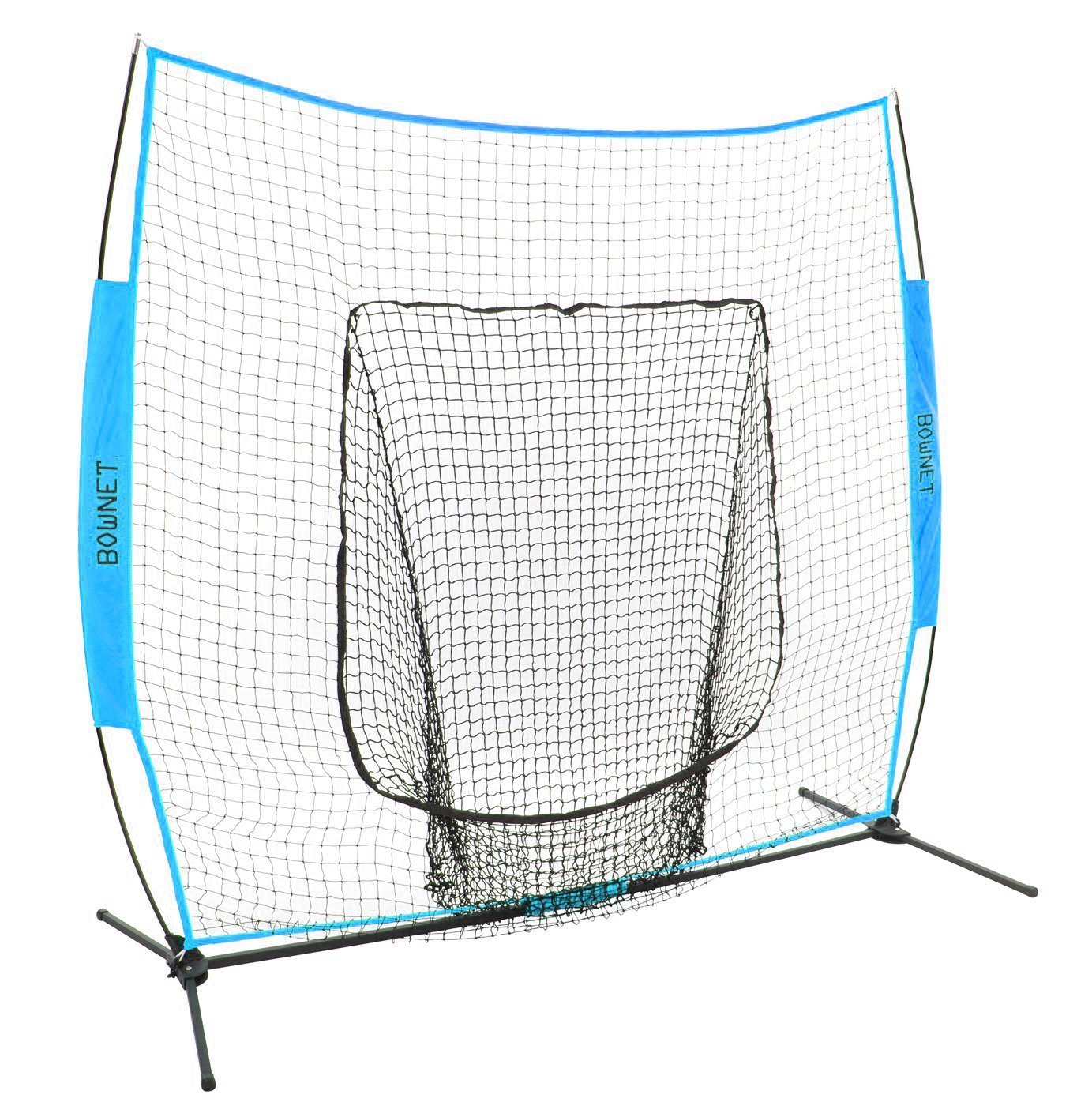 Bownet 7' x 7' Big Mouth X Deluxe Portable Hitting / Pitching Training Net (Columbia)