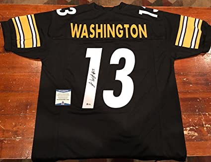buy online d6024 60fcc James Washington Autographed Jersey - Custom Pittsburgh ...