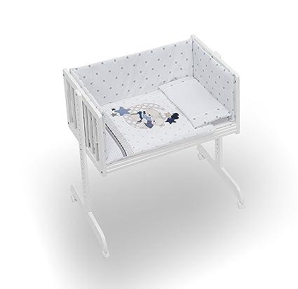 MINICUNA COLECHO COMPLETA. Incluye: Edredon desmontable con relleno + Cojín almohada + 2 Protectores