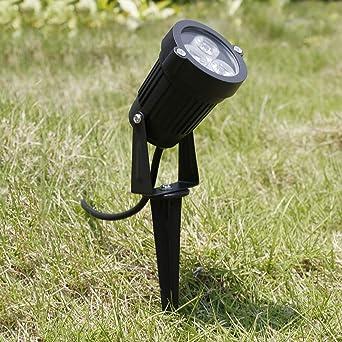 12V LED Lámpara de luz de punto Lámpara de foco Jardín exterior Patio de jardín Paisaje libre para montar en la pared de su jardín Césped Estanque cuadrado (Color: negro): Amazon.es: Iluminación