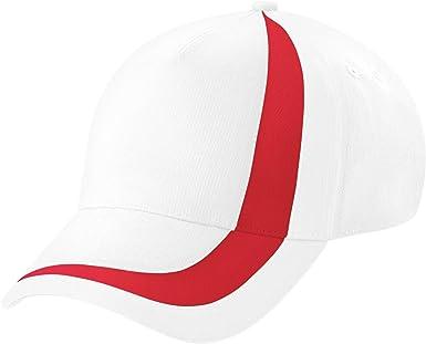 Beechfield - Gorra/Visera Unisex Banderas de Naciones del Mundo Modelo World Flags Nations España - Verano/Piscina - 100% algodón. (Paquete de 2) (Talla Única) (Blanco/Rojo): Amazon.es: Ropa y accesorios