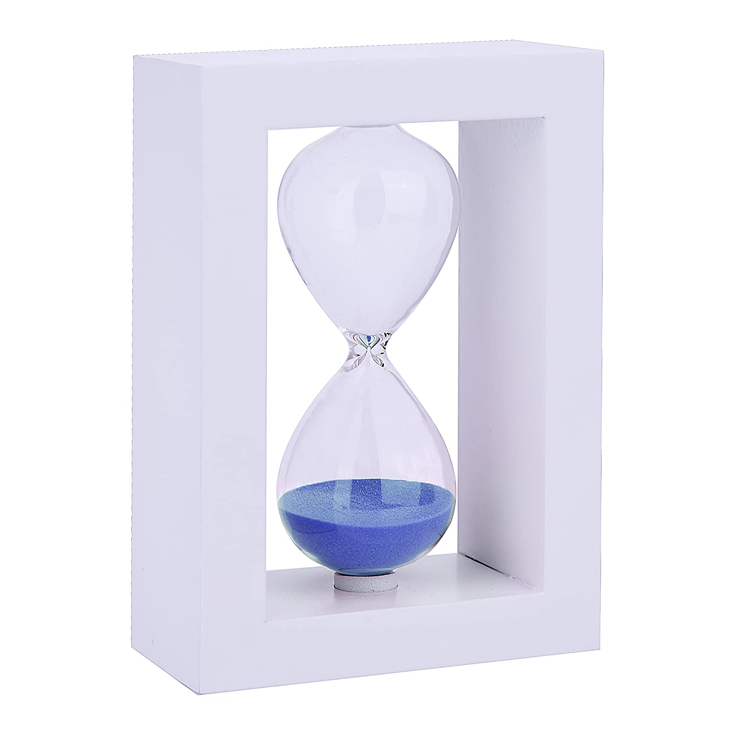30 Minutes Wood Exquisite Sand Timer Colorful Sandglass Hourglass Sand Clock Timer for Game Decoration Kitchen Office Blue with Black 1 Pcs LiangGui LG00AJ00WK
