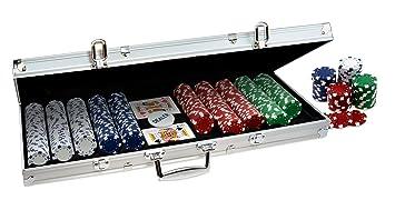 ProPoker Maletín de aluminio de 500 fichas de casino para ...