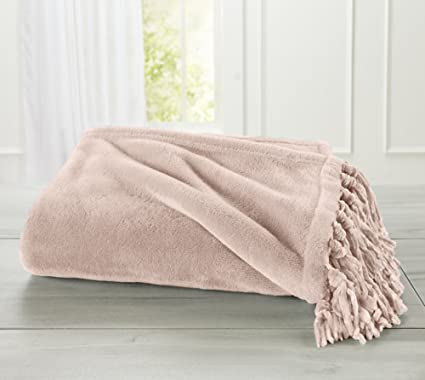 Amazon Home Fashion Designs Warm Velvet Plush Throw Blanket Cool Blush Pink Throw Blanket