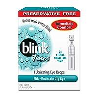 blink Tears Lubricating Eye Drops Mild-Moderate Dry Eye 25 Each