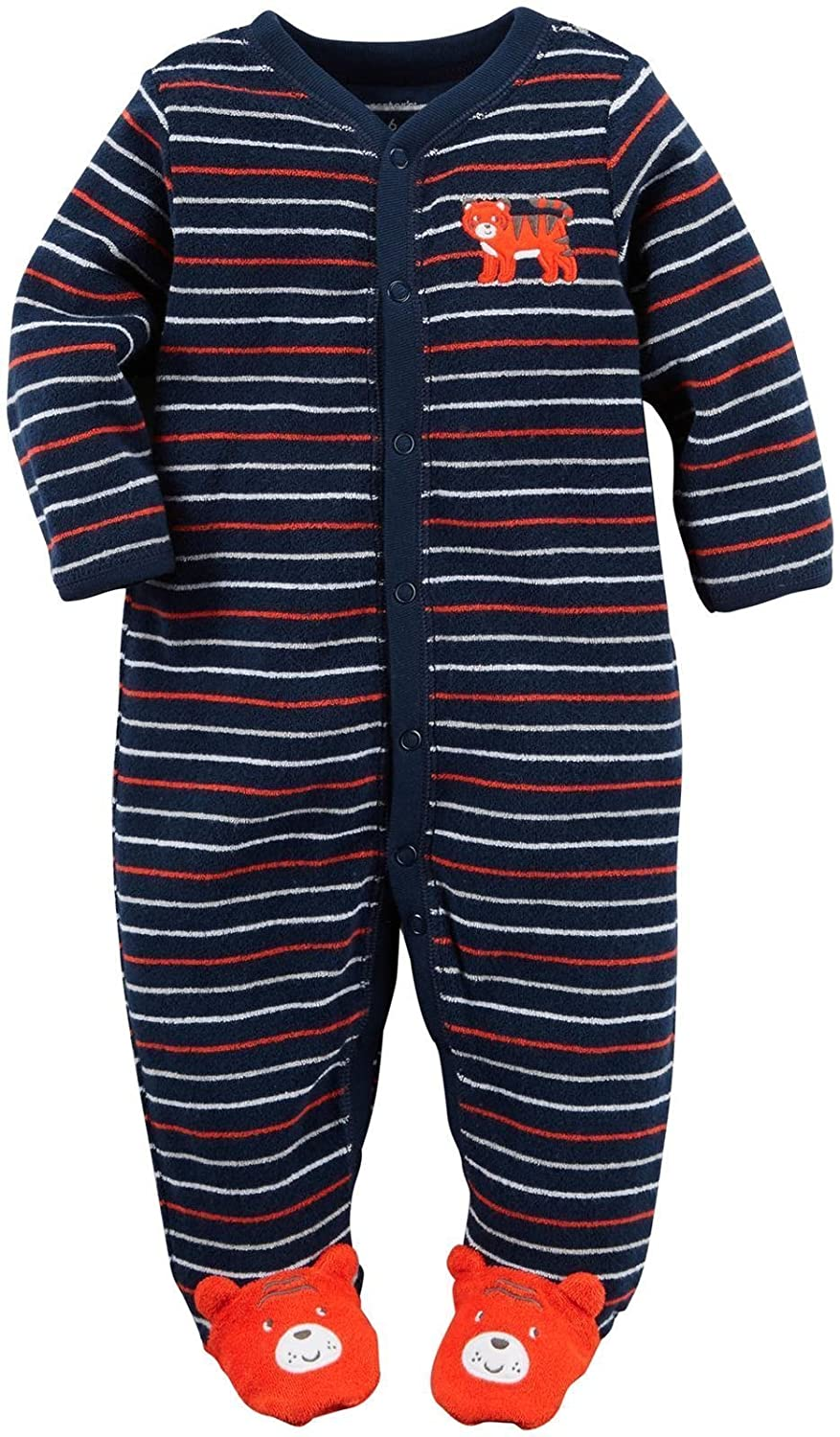 Carter's Baby Boys' Sleepy Tiger Footed Coverall Carter' s