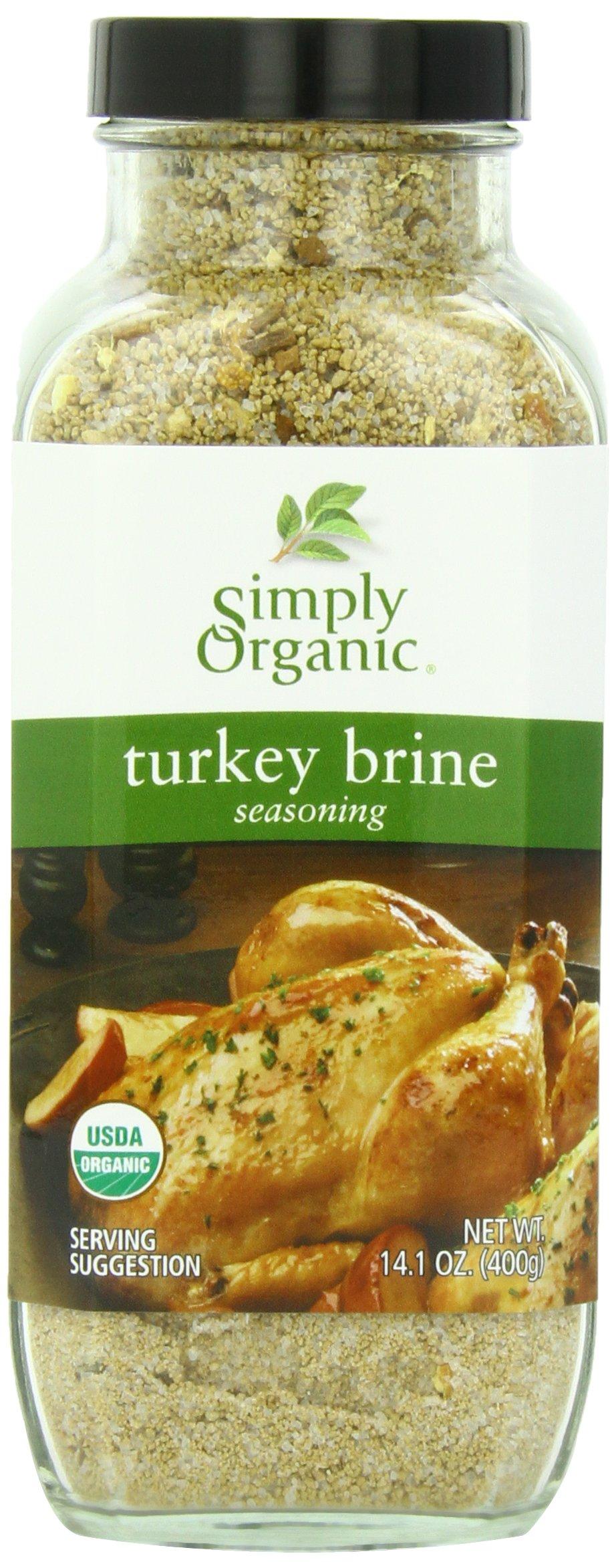 Simply Organic Seasoning Mix, Turkey Brine, 14.1 Ounce (Pack of 6)