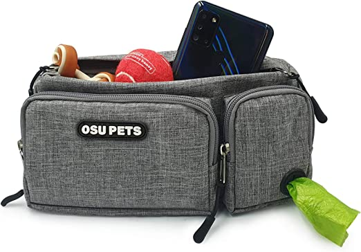 OSU PETS Dog Training Treat Pouch, Easily for Walking with Dogs, Fanny Pack and Waste Bag Dispenser
