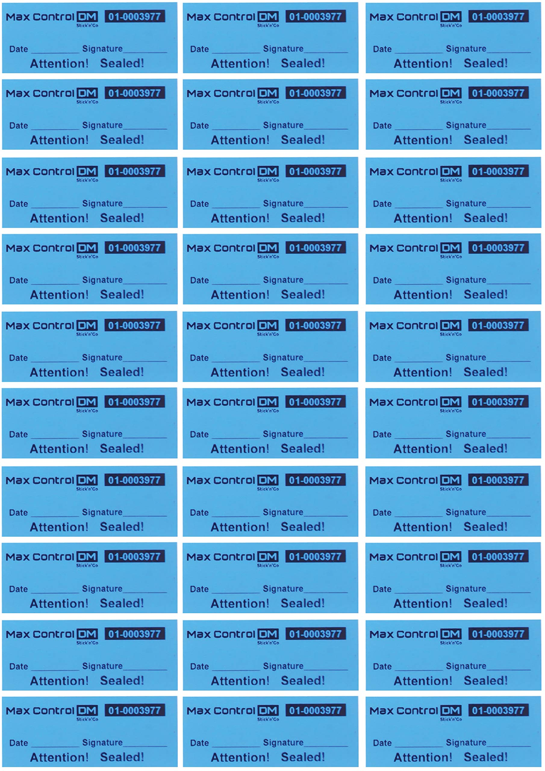 100 Customs Stickers Quality Control High Security Tamper Evident Warranty Void Labels Blue