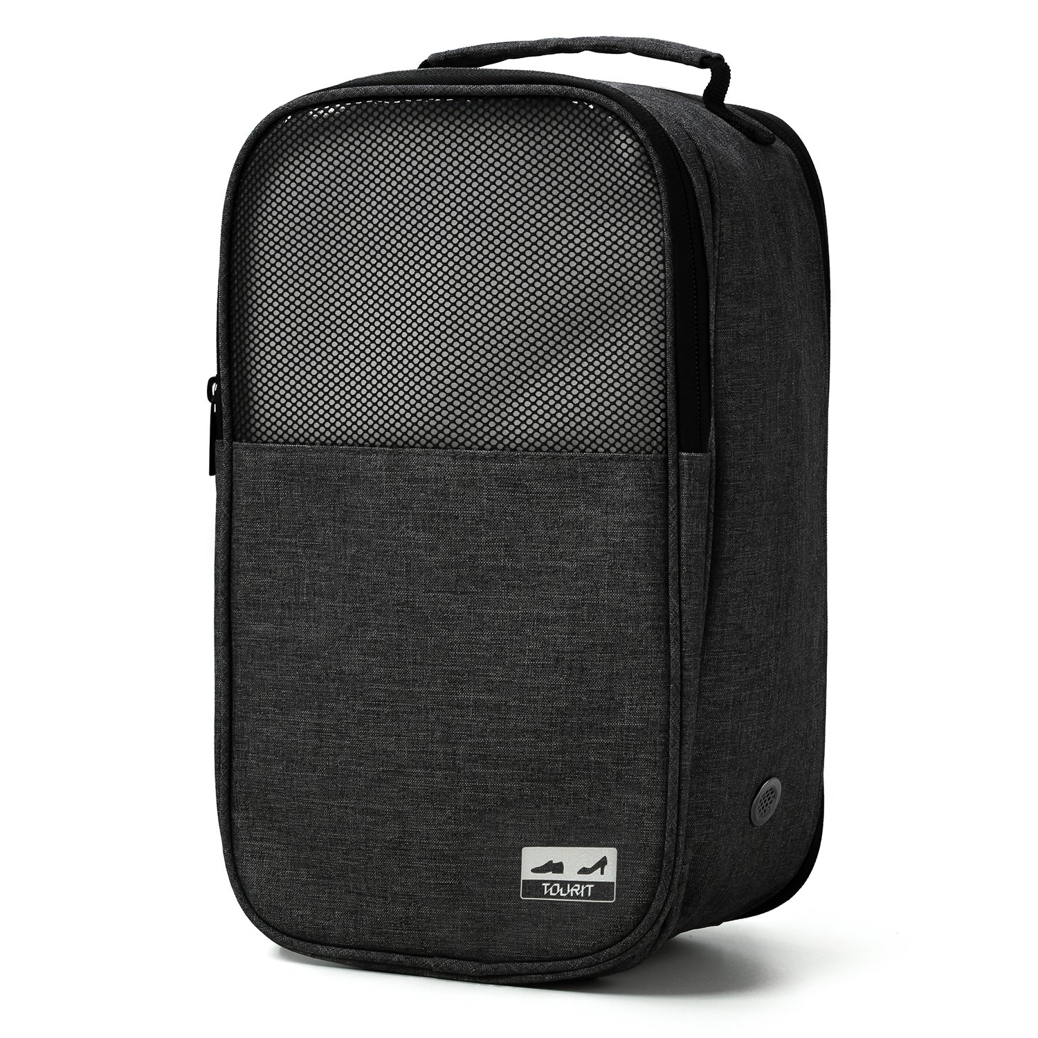 TOURIT Shoe Bag with Zipper Closure for Traveling Gym Business Black TO0200083A001-FUS