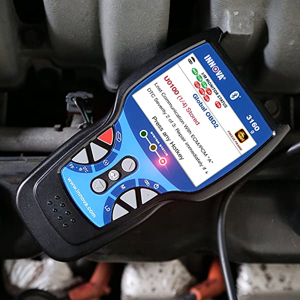 Innova 3160g is an Bluetooth OBD2 scan tool that read and clear check engine lights on any foreign or domestic 1996 and newer OBD2 car